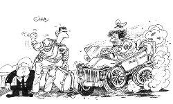 Ali Ferzat- Khaddafi en Assad